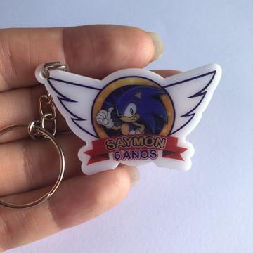 Chaveiro Sonic Impresso