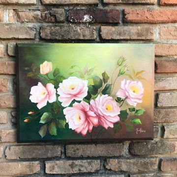 Pintura em Tela - Rosas