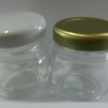 pote vidro geleia redondo 40ml com tampa 100 peça