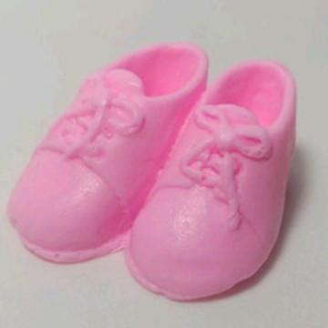Lembrancinha Maternidade Sabonete Sapatinhos de Bebê Rosa