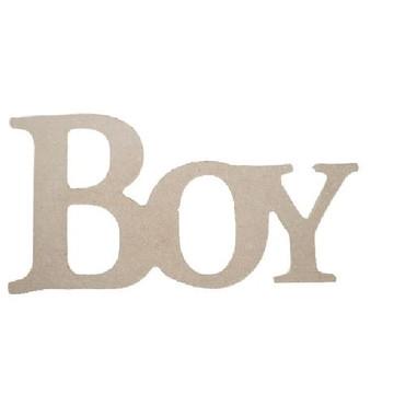 Palavra Decorativa Boy - Medida: 26cm x 13,5cmx 15mm