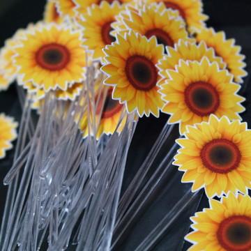 50 toppers para doces Flor Girassol