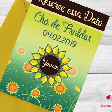 Convite Digital - Girassol