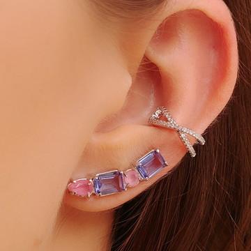 Brinco Ear Cuff Colorido