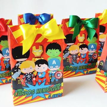 Sacola Festa Super-herói