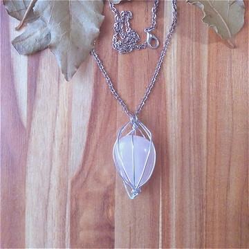 Quartzo Rosa Colar Pedra do Amor ! Pedra Natural