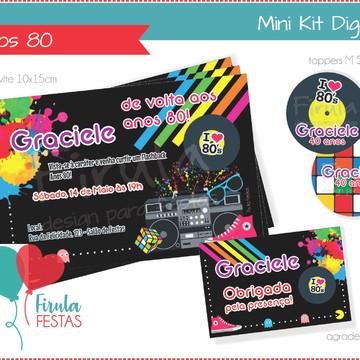 Mini Kit Digital Anos 80