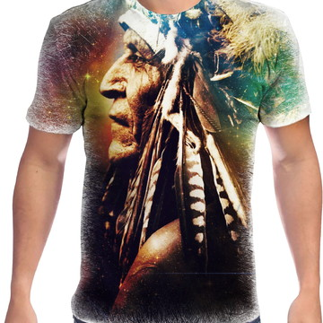 Camiseta Personalizada Índio Americano