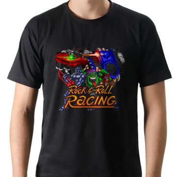 Camiseta Geek Games Rock n Roll Racing