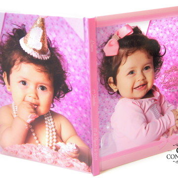 Caderno de Mensagem para Aniversário de 1 Ano Tema Princesa
