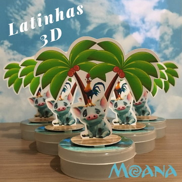 Latinhas Mints 3D da Moana