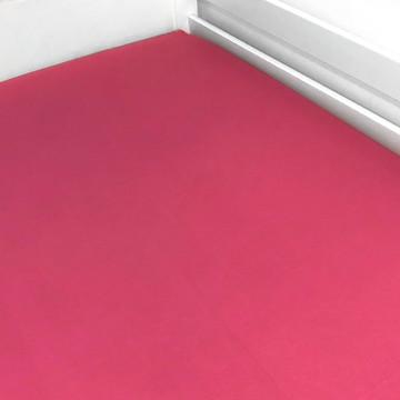 Lençol de Elástico Berço Rosa Chiclete