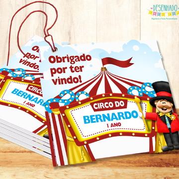 Tag para lembrancinhas Festa Circo