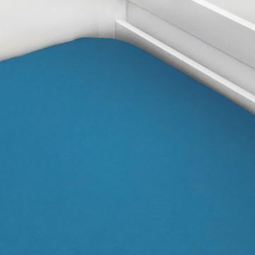 Lençol de Elástico Solteiro Azul Piscina