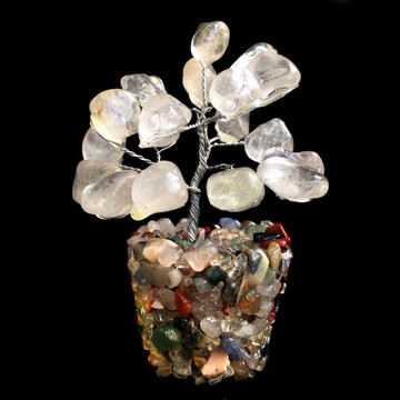 Árvore de Pedras Cristal Quartzo Transparente 9cm 1058