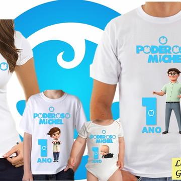 KIT Camiseta Personalizada Poderoso Chefinho 4 unidades