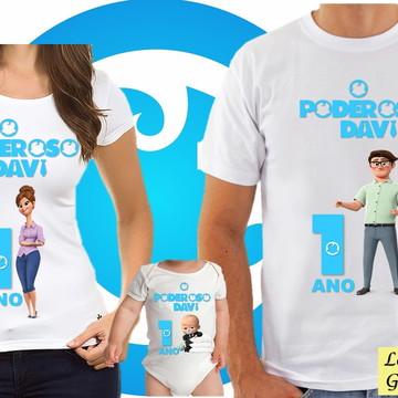 KIT Camiseta Personalizada Poderoso Chefinho 3 unidades