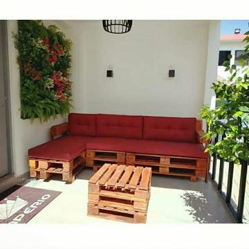 Sofa Chaise com mesa de Centro