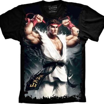 Camiseta Street Fighter Ryu Jogo