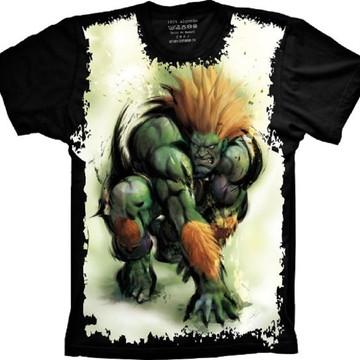 Camiseta Street Fighter Blanka Jogo