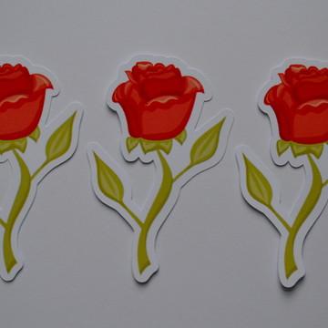 Apliques Rosas da Bela e a Fera