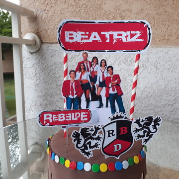 Topo de bolo - RBD REBELDE