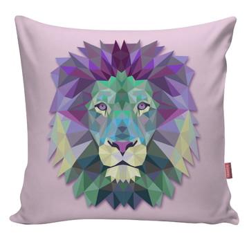 Capa De Almofada Decorativa Leão Rosa 3d Arte Ani19