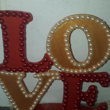 Letrado em Mdf (escrita LOVE)