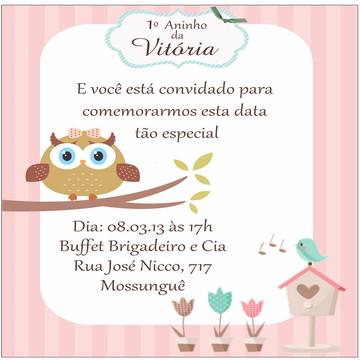 Convite Digital Corujinha