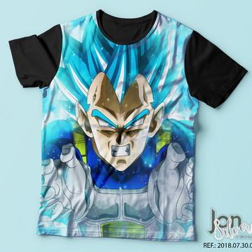 e98f299dbc Camisa Camiseta Dragon Ball Super Vegeta Ssj Blue
