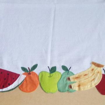 Pano de prato patchaplique frutas