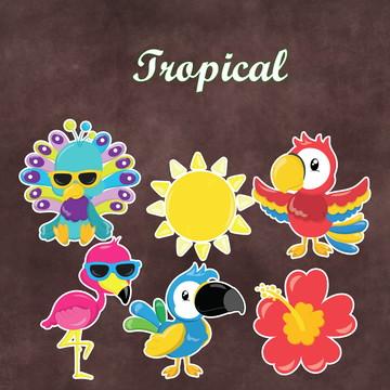 Recortes - Animais Tropical - Festa