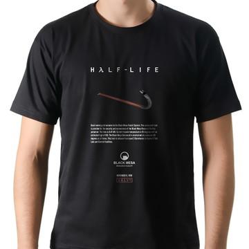 Camiseta Geek Games Half-Life Crowbar
