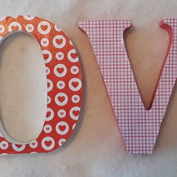 Palavra decorativa LOVE