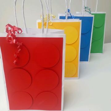 sacolas personalizada em lego