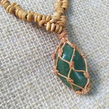 Colar de Pedra - Quartzo Verde