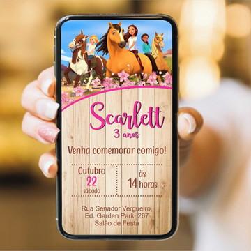CONVITE SPIRIT GIRL - DIGITAL WHATSAPP imprimível