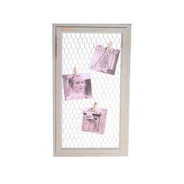 Quadro painel para fotos com tela arame