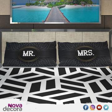 Kit Fronhas Personalizada Mr. & Mrs. | CT004AM