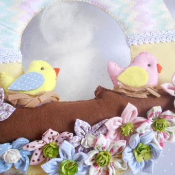 Porta Maternidade Passarinho + 10 lembrancinhas passarinhos