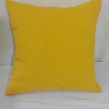 Capa de almofadas lisa Amarela 45 x 45