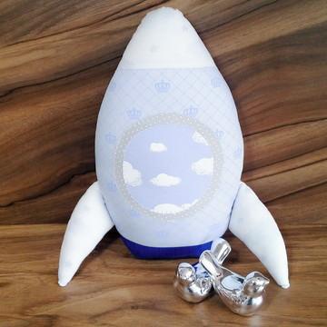 Almofada Decorativa Infantil de Foguete