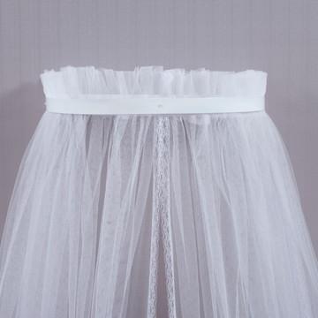 Dossel com mosquiteiro incluso Todo Branco Discreto quarto