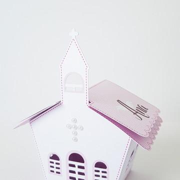 Caixa Capelinha- Tema Batizado menina