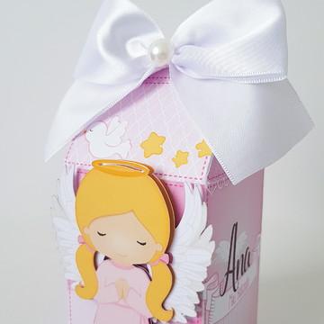 Caixa Milk- Tema Batizado menina