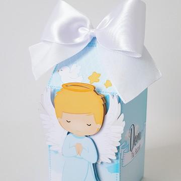 Caixa Milk- Tema Batizado menino