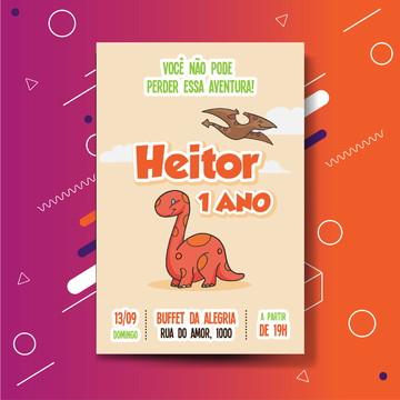 Convite digital - Dino