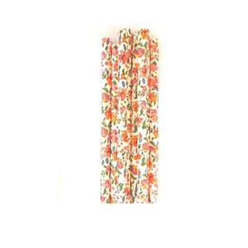 Canudos de papel - 20 unidades*Floral fundo branco