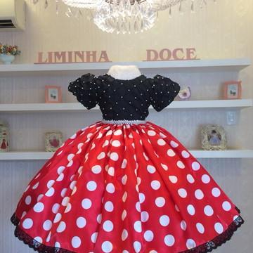 Vestido de Festa Minnie-Infantil