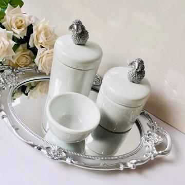 Kit Higiene Prata Ovelhinha